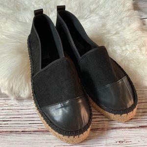 ASOS Flatform Cap Toe Espadrille Shoes Sz 10